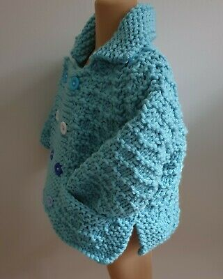 Hand Knitted Baby Chunky Knit Jacket to fit age 12 months Approx -BRAND NEW