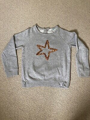 Girls Grey John Lewis Star Sweatshirt Age 10