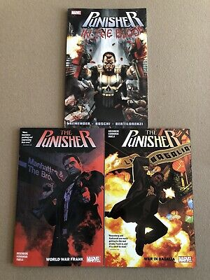 🔥 Punisher(2018) Vol 1 & 2 + In The Blood (Remender) BRAND NEW TPB Lot 🔥
