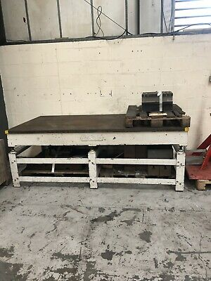CAST IRON SURFACE TABLE 8ft X 4ft CROWN WINDLEY CAST IRON MARKING OUT TABLE