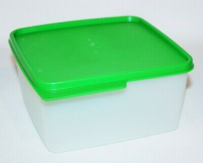 Tupperware Keep Tab Container Square Keeper 5 Cups Green Seal