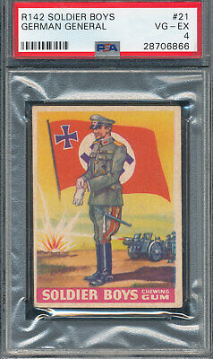 Swastika R142 German General 1936 Goudey Soldier Boys 21 Rare Graded Psa 4 Vg-Ex
