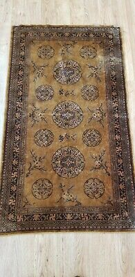 Antique HAND MADE chinese silk area rug 19th century