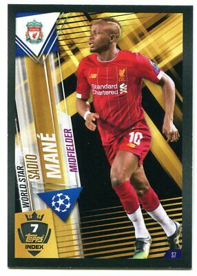 TOPPS Match Attax 101 UEFA 2019/20 #S7+W7 MANE Liverpool FC Sticker-Card