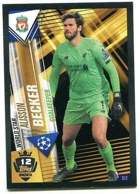 TOPPS Match Attax 101 UEFA 2019/20 #S12+W12 BECKER Liverpool FC Sticker-Card