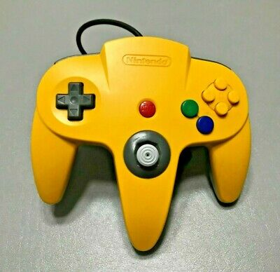 Nintendo 64 N64 OEM Official Authentic Controller - Yellow/Grey - Good Stick