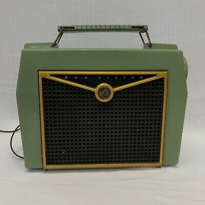 RCA Victor Master's Voice 6xb8 Tube Radio Green Vintage Tested & WORKS! Rare!