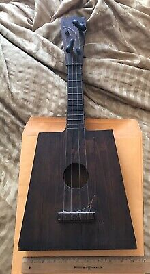 Antique Hand Made Tramp Art Ukulele Collectible.