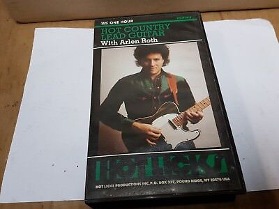 Arlen Roth Hot Country Lead Guitar Instructional Video - Vhs
