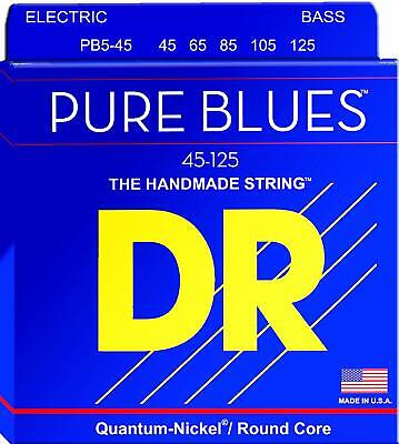 DR String PB5 45 Pure Blues Set di corde per basso a 5 corde