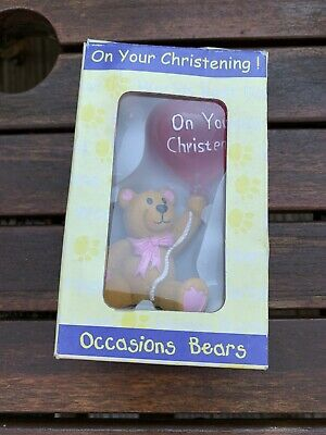 On Your Christening Occasions Bears - Pink