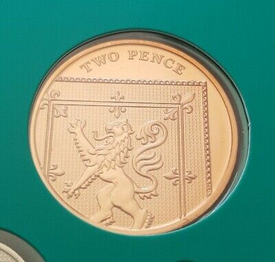 2018 2p Two Pence Coin Brilliant Uncirculated BU Royal Shield Unrealised Date