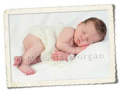 Newborn Baby Soft Cream Hand knitted Knit Wrap for posing photoshoots