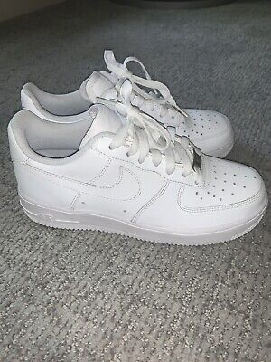 Nike Air Force 1 314192 117 All White Youth Size 6 Women Size