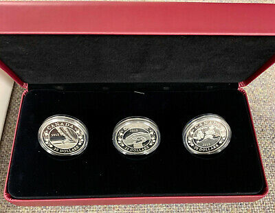2013 $20 Fine Silver Coins -  3 Canada Coin Set: Birth of the Royal Infant