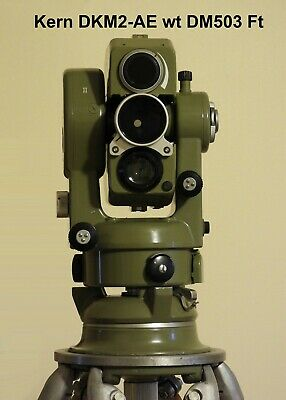 Kern Swiss DKM2-AE Theodolite with DM503  & prism : USED NICE CONDITION.