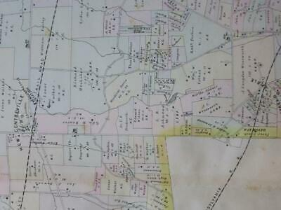 1883 Breou's Tredyffrin Township Chester County, Pa. Colored Map,Valley Railroad