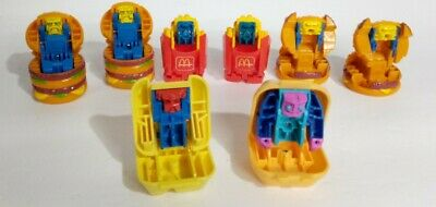Mixed Lot McDonalds Changeables McRobots 1987/1988 Happy Meal Toys