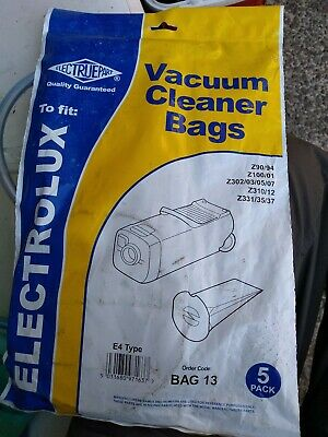 Electruepart E4 Type Vacuum Dust Bags for Electrolux Z100/101 Type  (Pack of 5)