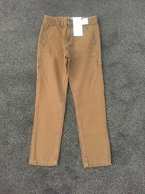 Bnwt Marks And Spencer Boys Tan Canvas Jeans Age 9-10 Years, Rrp £14