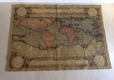 "Flemish Tapestry OLD WORLD GLOBE Wall Hanging made in Belgium 6' 3"" x 4' 4"" NWT"