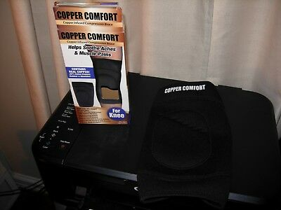 Adult Size Copper Comfort Infused Compression Brace For Knee