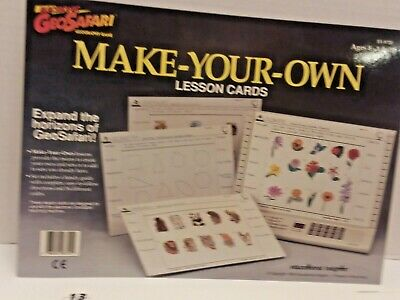 Geosafari Make Your Own Lesson Cards Learning Game EI-8720  Complete
