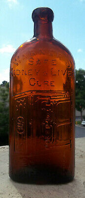 "Really Nice Warners Liver & Kidney Cure Bottle ""A1"" 1890'S Blob Top Medicine"