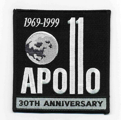 Vintage Embroidered Patch - Apollo 11 - 30th Anniversary