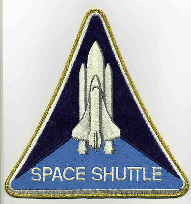 Vintage Embroidered Patch - Space Shuttle Program Logo Large 8 inch back patch