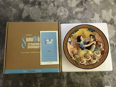 Disney Snow White and the Seven Dwarfs True Love At Last 3D Plate Limited COA