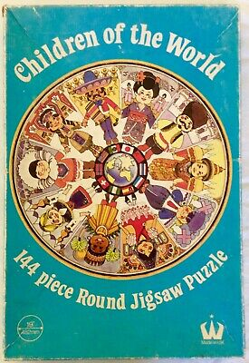 Retro Vintage Collectable 1970s CHILDREN OF THE WORLD Jigsaw- round educational