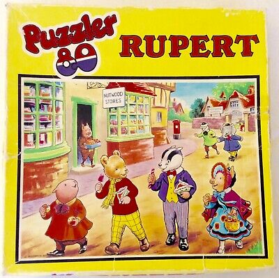 Retro Vintage Collectable 1970s RUPERT THE BEAR - 80 piece Jigsaw