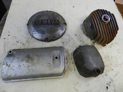 1981 Yamaha 400 Special 2 Starter Engine Covers, Alternator, Oil Covers 5 Pieces