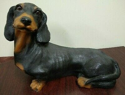 TINY ONES DOG Figurine Statue Pet Lovers Resin Doxie DACHSHUND BLACK TAN