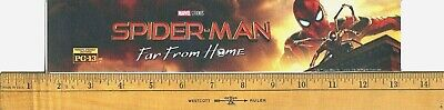 """Spider-Man: Far From Home (2019) Box Office Movie Theater Mylar 2.5""""X11.5"""""""