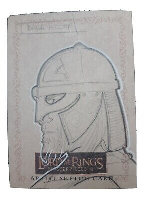 Lord of the Rings Topps Sketch Trading Card Christian Dalla Vecchia Evolution