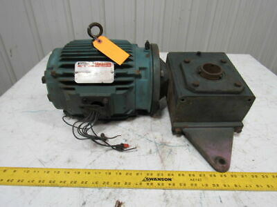 Grove HM01300 5:1 Ratio Gear Box Speed Reducer Hollow Shaft W/5 Hp Motor
