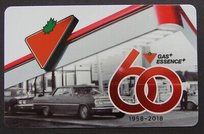 RARE - 60 th Anniversary 1958-2018 - Canadian Tire Gift Card