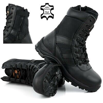 MENS LIGHTWEIGHT STEEL TOE CAP MILITARY POLICE COMBAT SAFETY BOOTS WORK SHOES SZ