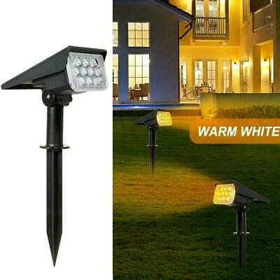 Solar Power Spot Light Outdoor LED Garden Lawn Landscape Path Lamp IP65 J8V5