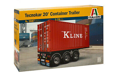 Container  Trailer  2a neutral  schwarz  --- SK34 HERPA  ----    20 ft