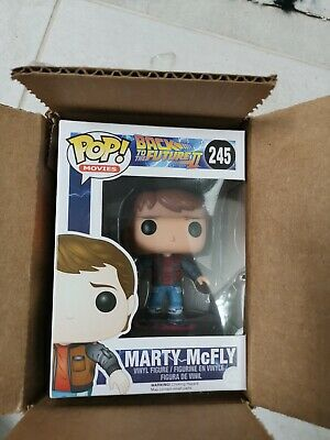 Back To The Future Marty 2 McFly Hoverboard #245 Funko Pop Vinyl
