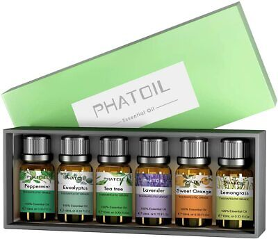 10ml Top 6pcs Set Essential Oils Aromatherapy100% Pure Essential Oil Spa Health