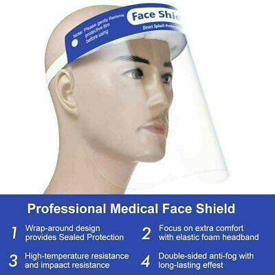 2 Pack Safety Face Shield Reusable Clear Washable Anti-Splash US Inventory NEW