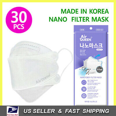 Disposable Face Mask Protective Nanofiber Mouth Cover [MADE IN KOREA] (30 PACK)