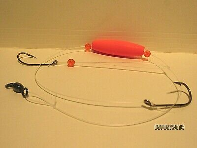 3 Pack Hand Tied Fireball Surf Fishing Rigs- Bluefish Etc. Puppy Drum Trout