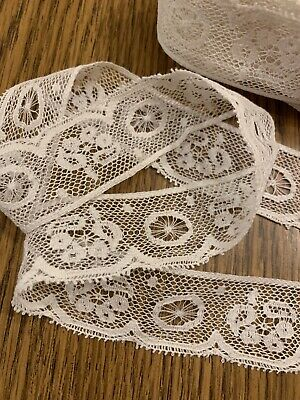 """Vintage 3//8/""""wide Lace 10 yards Ivory Lot 82 Soft Delicate Crafts Doll Clothes"""