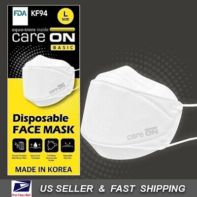 [CARE-ON] Disposable Face Mask KF94 Respiratory Protective [Made in Korea]
