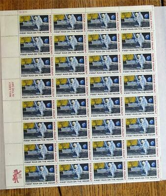 1969 First Man On The Moon Air Mail Full Stamp Sheet (32) 10c~Never Hinged
